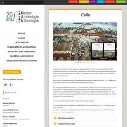 Site de la revue Gallia