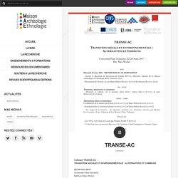 22 au 24/03 - Transition sociale et environnementale : alternatives et communs