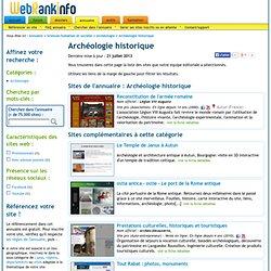 Archéologie historique - Archéologie