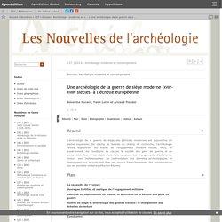 Une archéologie de la guerre de siège moderne (xviie-xviiiesiècles) à l'échelle européenne