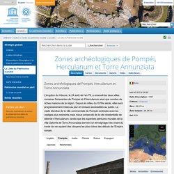 Zones archéologiques de Pompéi, Herculanum et Torre Annunziata