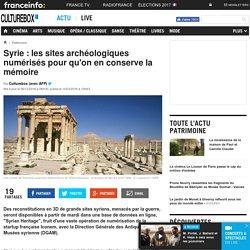 Syrie : les sites archéologiques numérisés pour qu'on en conserve la mémoire