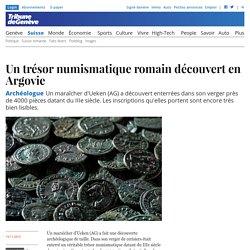 Archéologue: Un trésor numismatique romain découvert en Argovie