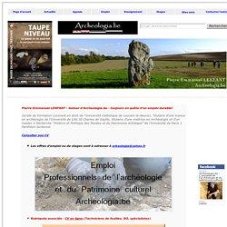 Offres d'emploi : Archéologues et professionnels du Patrimoine culturel