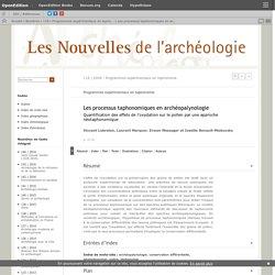 Les processus taphonomiques en archéopalynologie