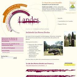 Archéosite Les Pierres Droites - Les Landes en forêt de Brocéliande, Bretagne