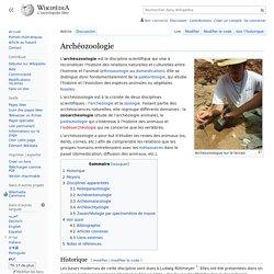 Archéozoologie
