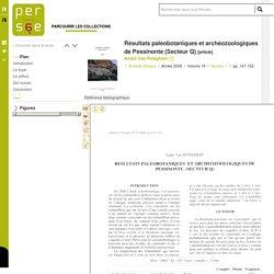 Résultats paléobotaniques et archéozoologiques de Pessinonte (Secteur Q)