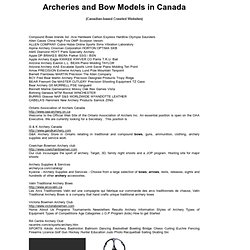 Archeries in Canada