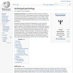 Archetypal psychology