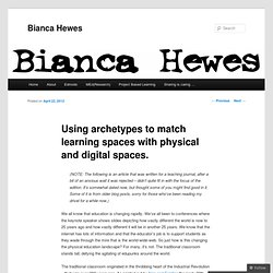 Using archetypes to match learning spaces with physical and digital spaces. |
