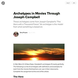 Archetypes in Movies Through Joseph Campbell