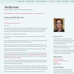 Archevore Blog - Archevore Diet Revised