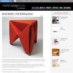 Brett Mellor : Felt Folding Stool - ArchiDesignClub by MUUUZ - Architecture & Design