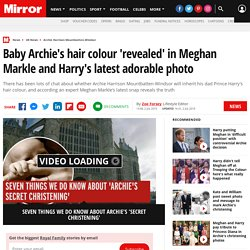 Baby Archie's hair colour 'revealed' in Meghan Markle and Harry's latest adorable photo