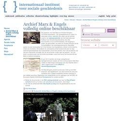 Archief Marx & Engels volledig online beschikbaar