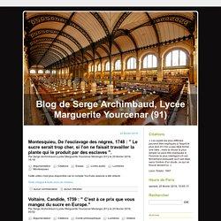 Blog de Serge Archimbaud, Lycée Marguerite Yourcenar (91)