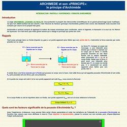 Archimède: le principe d'Archimède