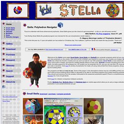 Stella - Create Polyhedra and Nets! Platonic, Archimedean, Catalan, Kepler-Poinsot, uniform, and dual polyhedra, their stellations, and polyhedron nets