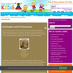 Archimedes Facts for KidsEasy Science For Kids