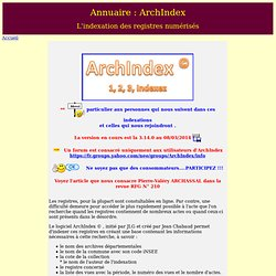ArchIndex - Indexation