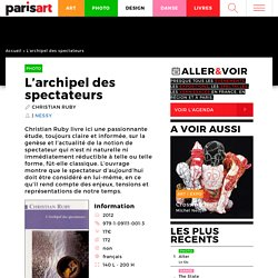 L'archipel des spectateurs : Paris Art