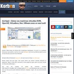 Archipel – Gérez vos machines virtuelles KVM, OpenVZ, Virtualbox, Xen, VMware avec un seul outil