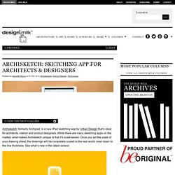 Archipad: A Sketching App For Architects & Designers