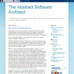 Why Software Architecture Fails