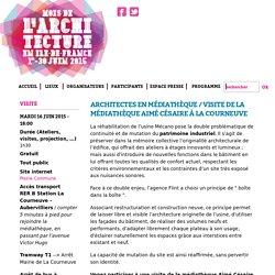 Architectes en médiathèque / Visite de la médiathèque Aimé Césaire à La Courneuve