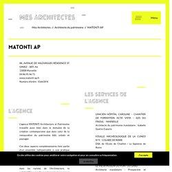 Annuaire des architectes et agences d'architecture - MATONTI AP Marseille - Mes Architectes