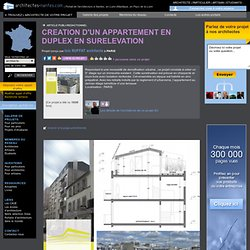 CREATION D'UN APPARTEMENT EN DUPLEX EN SURELEVATION - PARIS