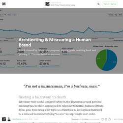 Architecting & Measuring a Human Brand — Best thing I found online today