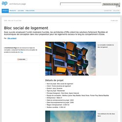 Bloc social de logement par Ofis Architects
