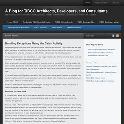 A Blog for TIBCO Architects, Developers, and Consultants