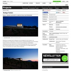 Vaíllo + Irigaray Architects, Josecho Vélaz, Iván Fernández — Bodega Tandem - Divisare by Europaconcorsi