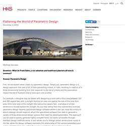 HKS Architects - Flattening the World of Parametric Design