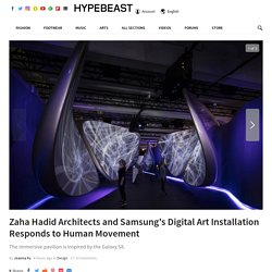 Zaha Hadid Architects And Samsung Create Immersive Digital Art Installation