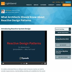 What Architects Should Know About Reactive Design Patterns