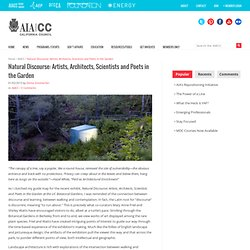 Natural Discourse: Artists, Architects, Scientists and Poets in the Garden — AIACC