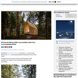 Ortraum Architects builds woodland cabin from cross-laminated timber