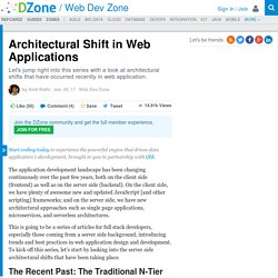 Architectural Shift in Web Applications