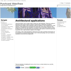 Architectural applications « Punchcard: VideoTrace