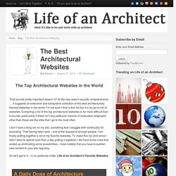 The Best Architectural Websites