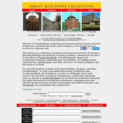 Architecture Design Architectural Images Drawings History and More - ArchitectureWeek Great Buildings