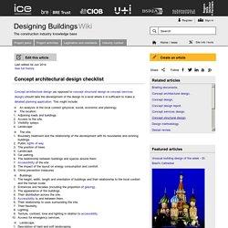 ncept architectural design checklist
