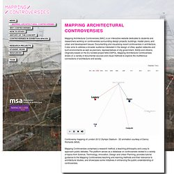 Mapping Architectural Controversies - Main - Mapping Controversies