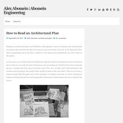 How to Read an Architectural Plan ~ Alex Abossein