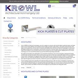 Get reliable Black Aluminium Anodised Kick Plate