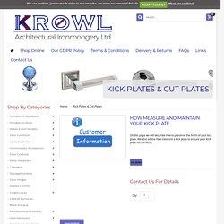 Get reliable and the best antique bronze door kick Plates